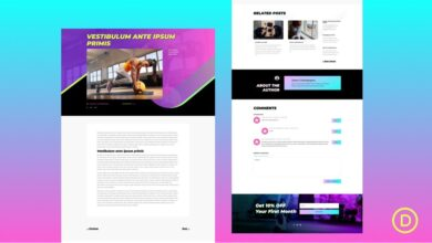 Photo of Get a FREE Blog Post Template for Divi's Virtual Fitness Layout Pack