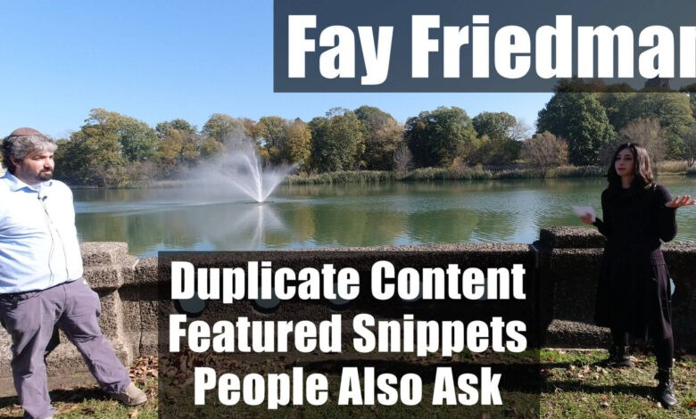 Photo of Video: Fay Friedman on duplicate content, featured snippets & people also ask