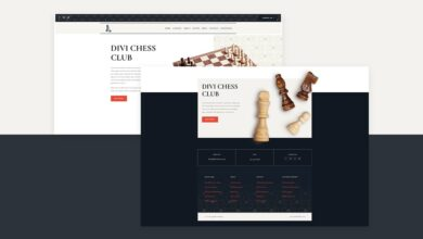 Photo of Download a FREE Header & Footer for Divi's Chess Club Layout Pack