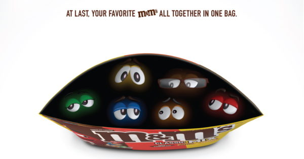 Photo of BBDO New York's Print Ad for M&M's Mix Bags Is Not Your Average Print Ad