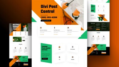 Photo of Get a FREE Pest Control Layout Pack for Divi