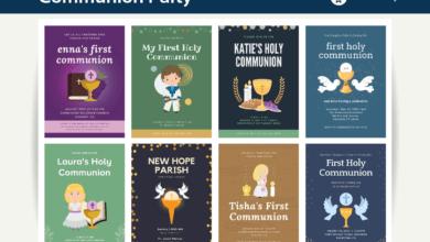 Photo of 10+ Communion Party Invitation Canva Templates