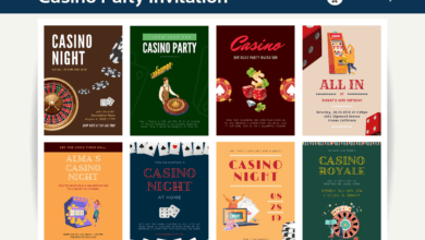 Photo of 10+ Casino Party Card Canva Templates
