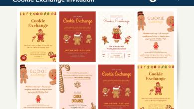 Photo of 10+ Cookie Exchange Invitation Canva Templates