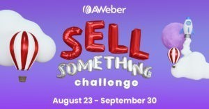 Photo of Sell Something Challenge: Get a Free Month of AWeber Pro When You Sell One Thing