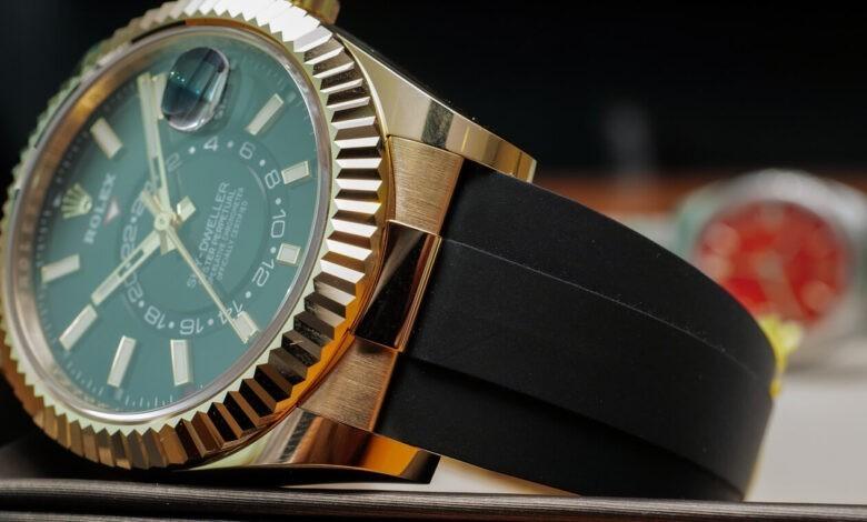 Photo of Hands-On: Rolex Sky-Dweller Watch On Oysterflex Bracelet